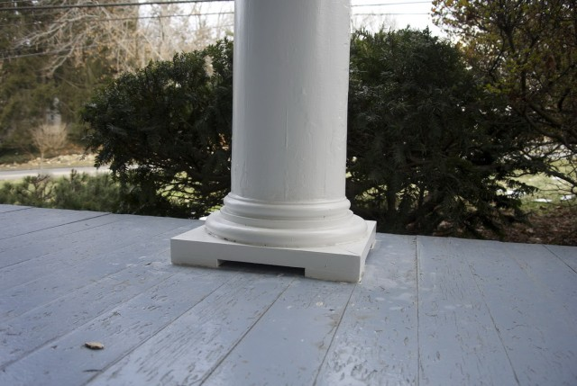 Porch Column Base Replacement
