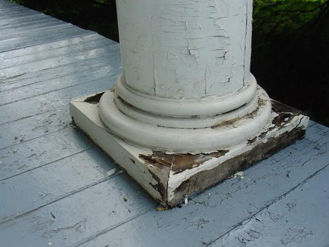 Porch Post Base Repair