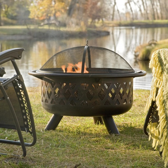 Porch Swing Around Fire Pit