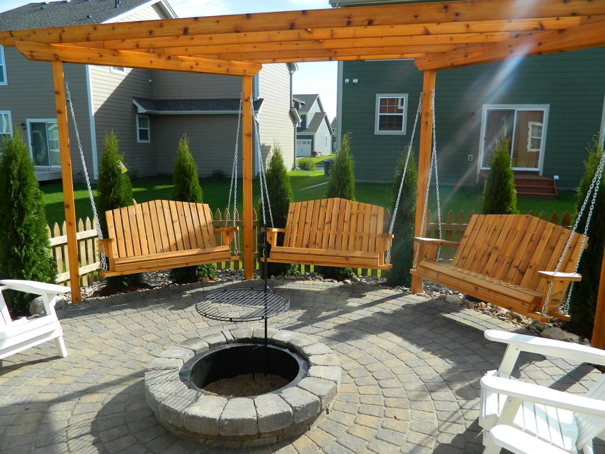 Permalink to Porch Swing Fire Pit