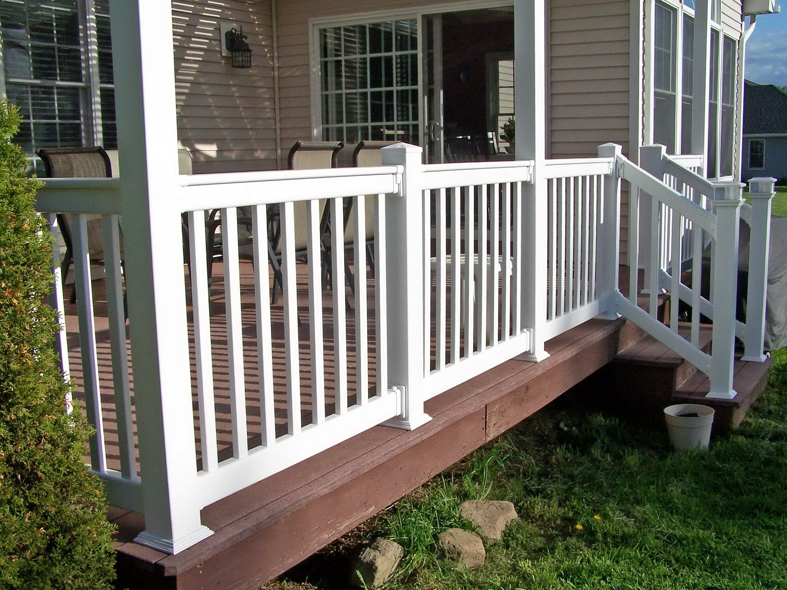 Vinyl porch railing systems lowes 28 images vinyl railing lowes deck outstanding lowes - Vinyl deck railing lowes ...