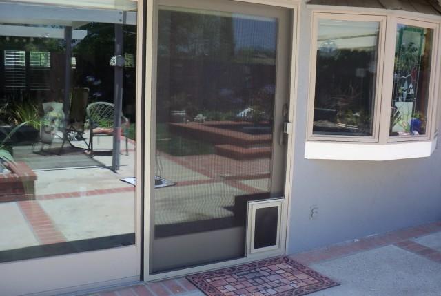 Screen Porch Door With Doggie Door