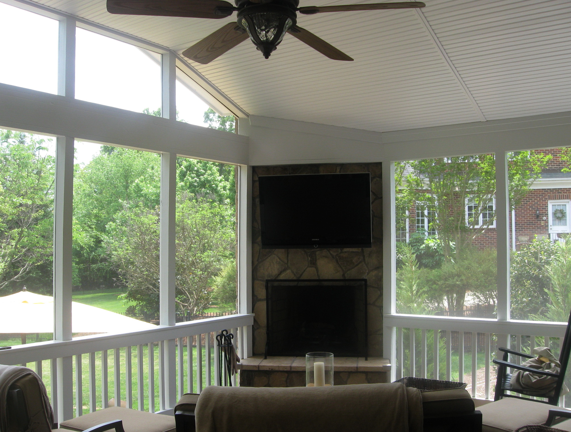 Permalink to Screened In Porch With Fireplace Cost