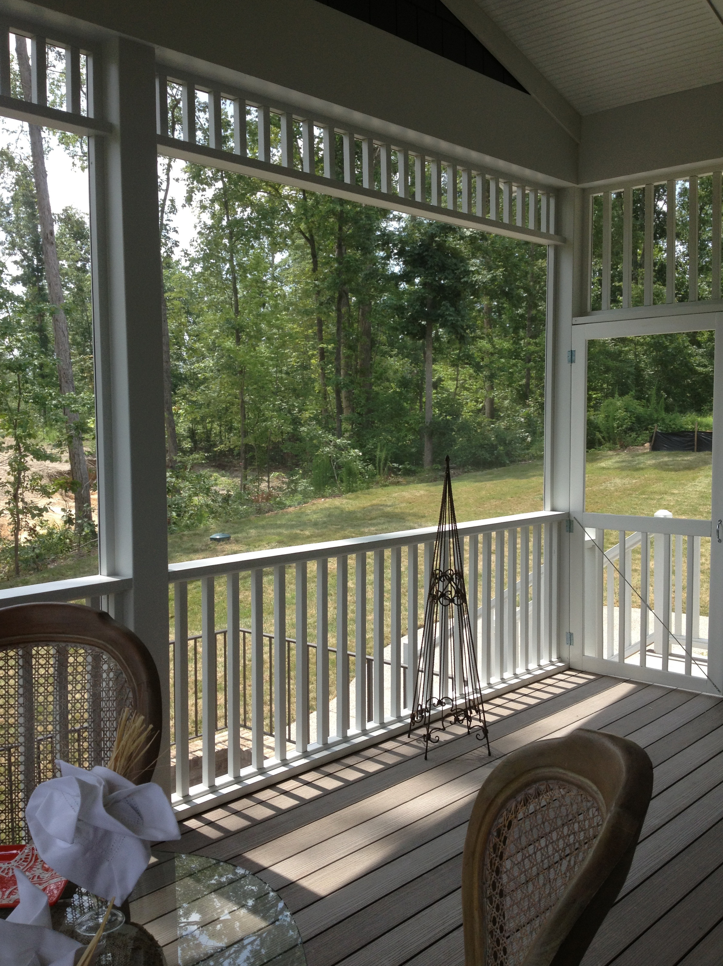 Screened Porch Fire Pit