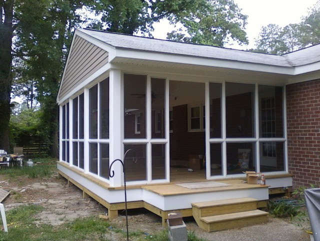 Screening A Porch With Panels