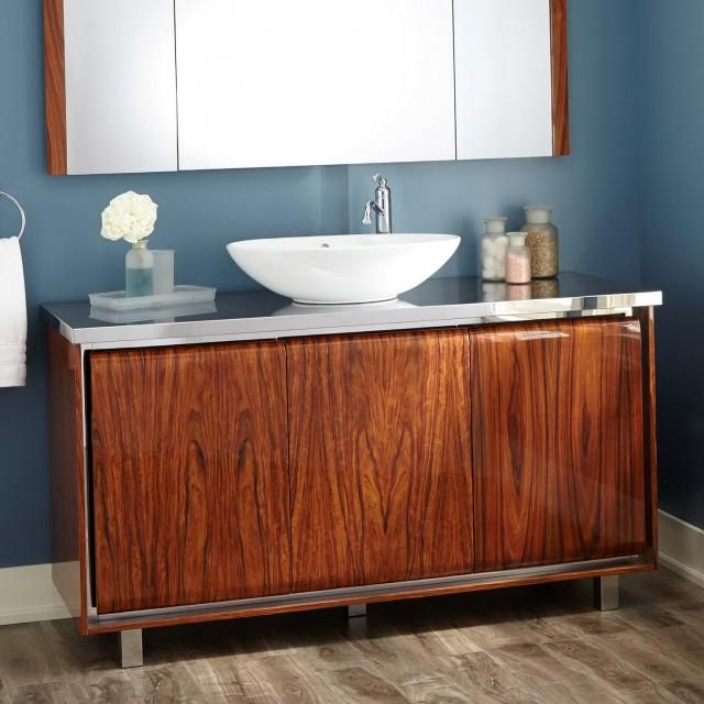 Single Vanity With Vessel Sink