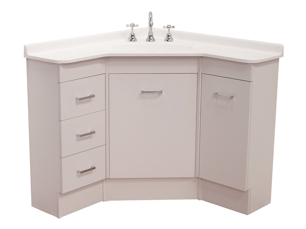 Small Corner Sink Vanity Unit