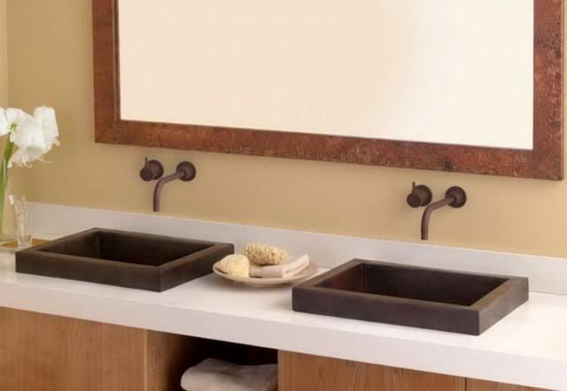 modern master bath vanities small double vanity sink