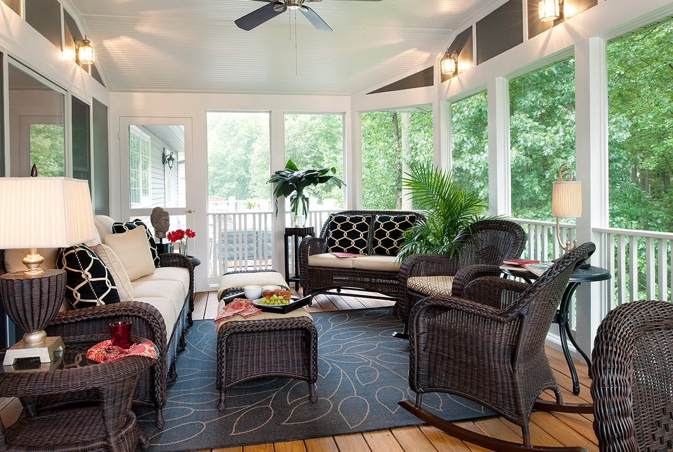 How To Decorate A Screened In Porch Home Design And Decor