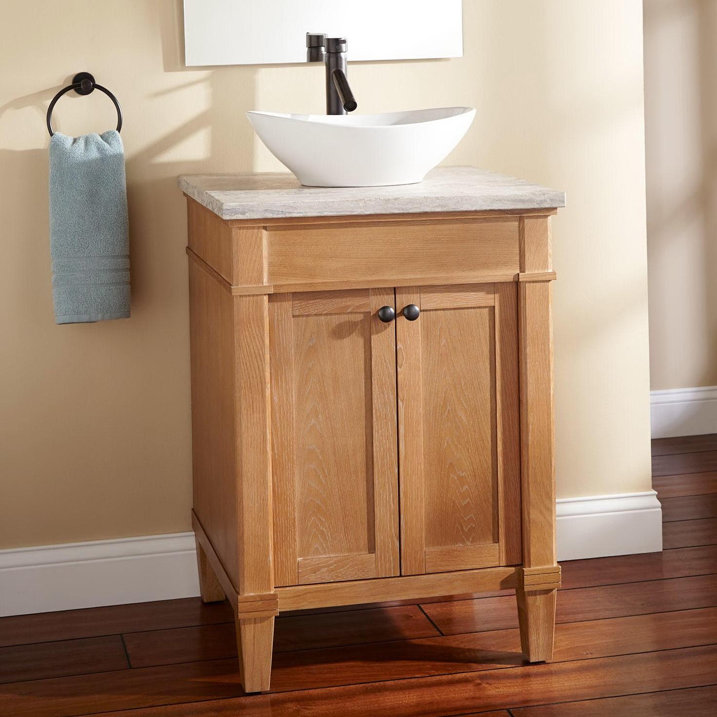 small vessel sink vanity home design ideas