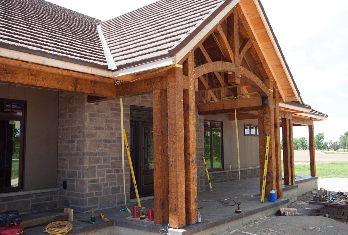 Timber Frame Front Porch Home Design Ideas