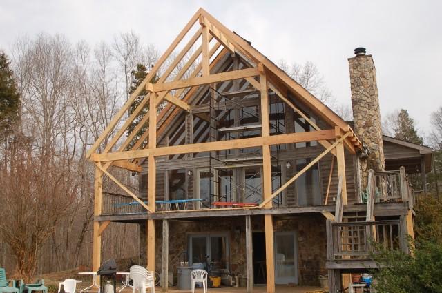 Timber Frame Entrance Porch Home Design Ideas