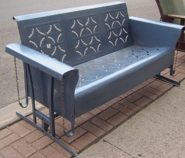Vintage Metal Porch Glider For Sale