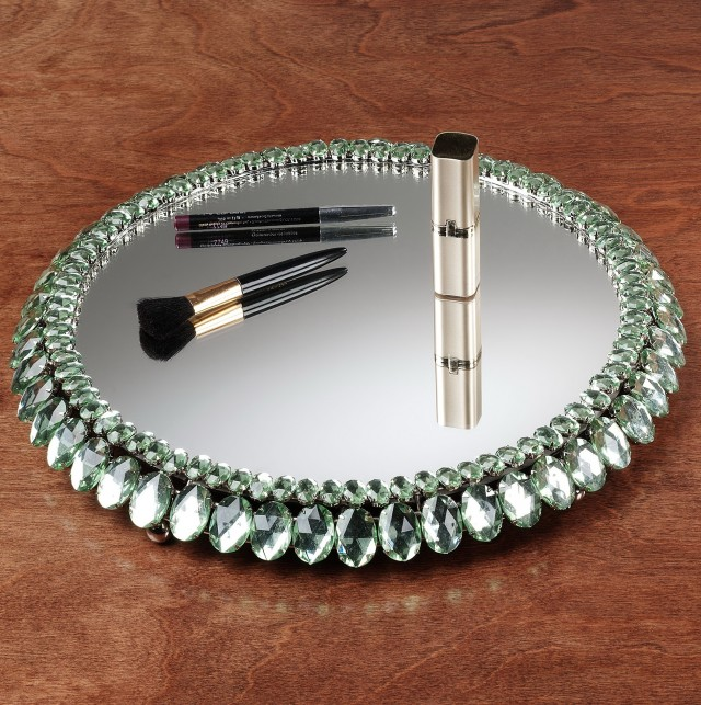 Vintage Mirror Vanity Tray