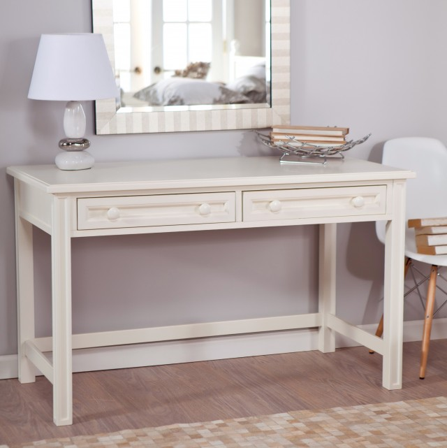 White Bedroom Vanity With Drawers