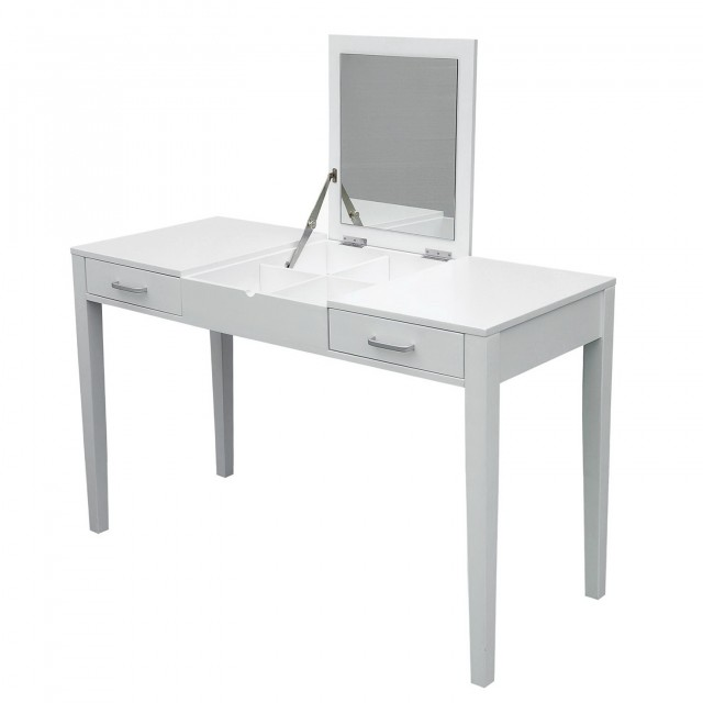 White Vanity Desk With Drawers