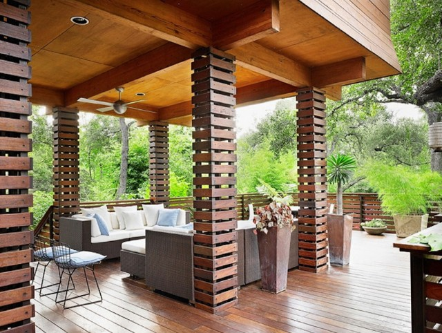 Wood Columns For Homes : Wooden porch posts and columns home design ideas