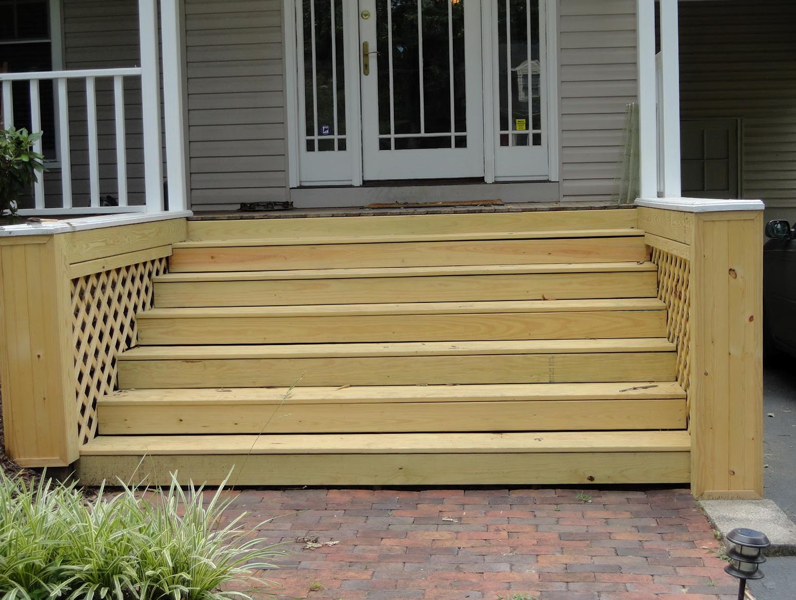 Wooden Front Porch Steps Designs Home Design Ideas