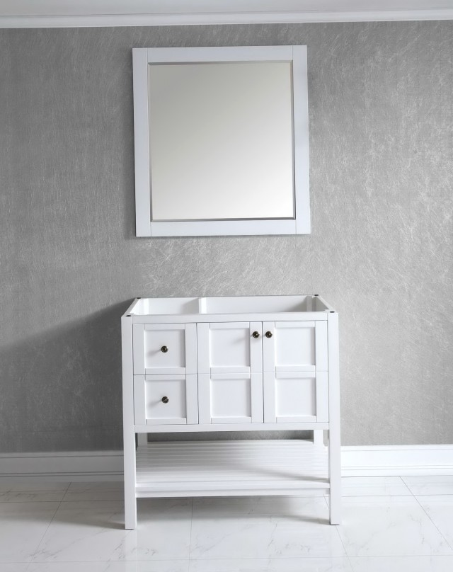 36 White Bathroom Vanity Cabinet