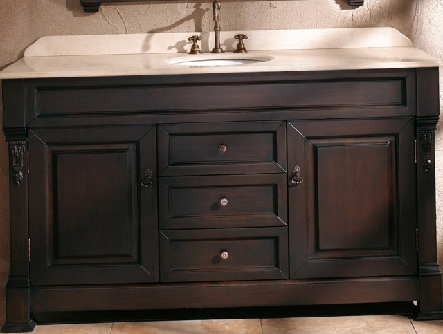 54 Inch Bathroom Vanity Single Sink