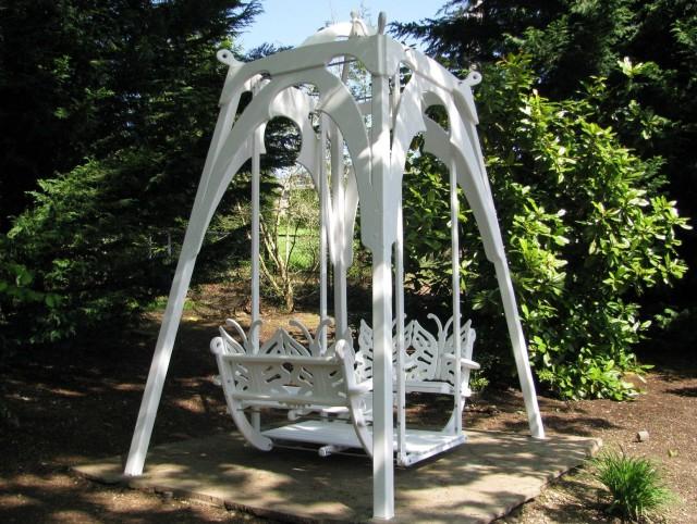 Antique Porch Glider Swing