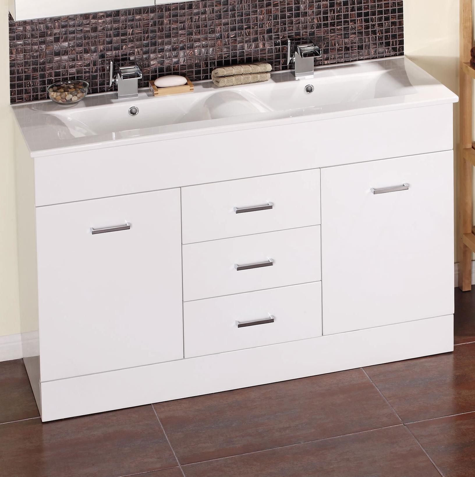 Bathroom Double Sink Vanity Units Home Design Ideas