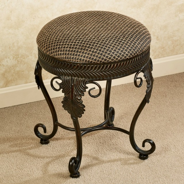 Swivel vanity stool on casters home design ideas - Bathroom vanity chair with casters ...