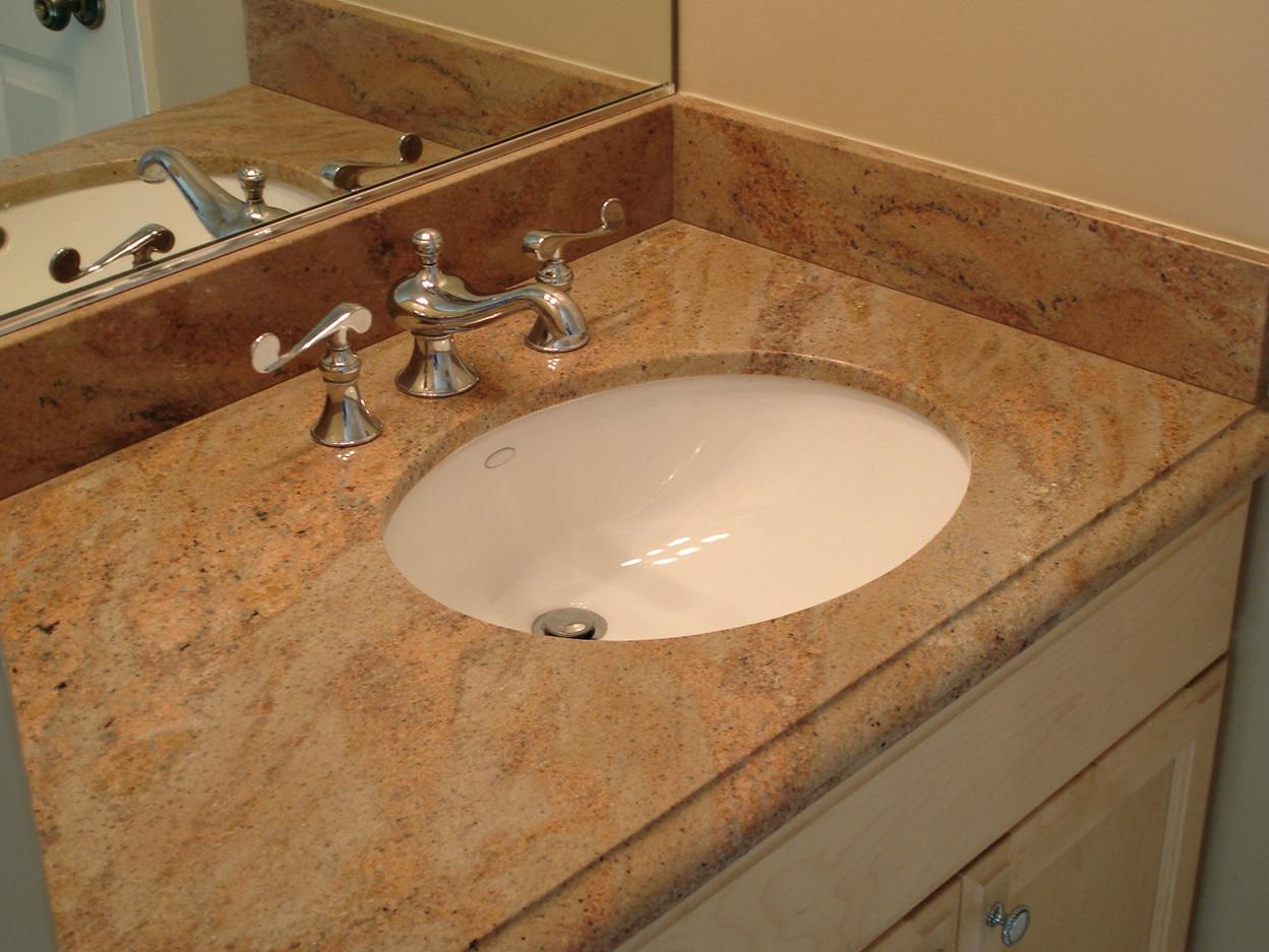 Bathroom vanity granite backsplash home design ideas Granite backsplash for bathroom vanity