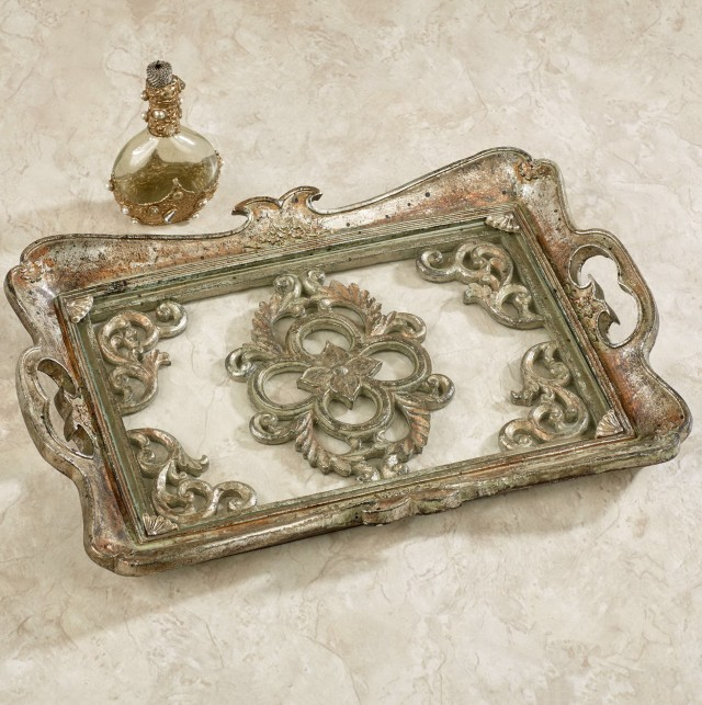 Bathroom Vanity Tray Satin Nickel
