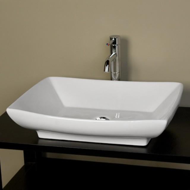 Bathroom Vanity With Rectangular Vessel Sink