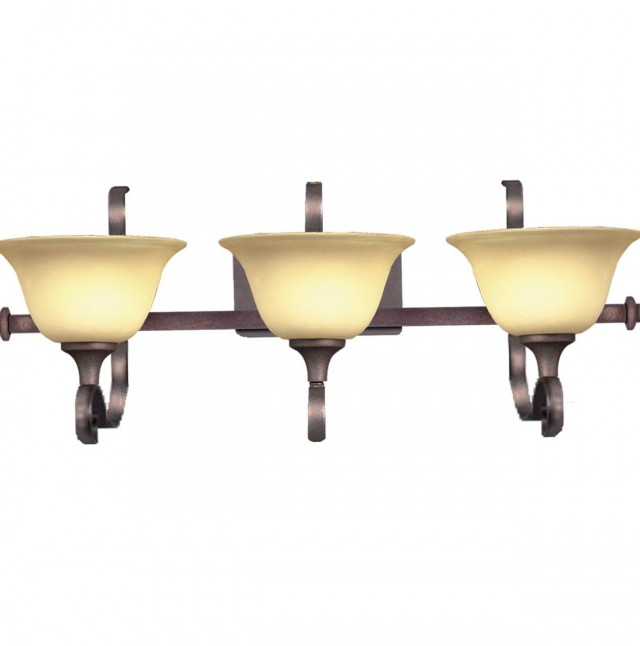 Bronze 3 Light Vanity Fixture