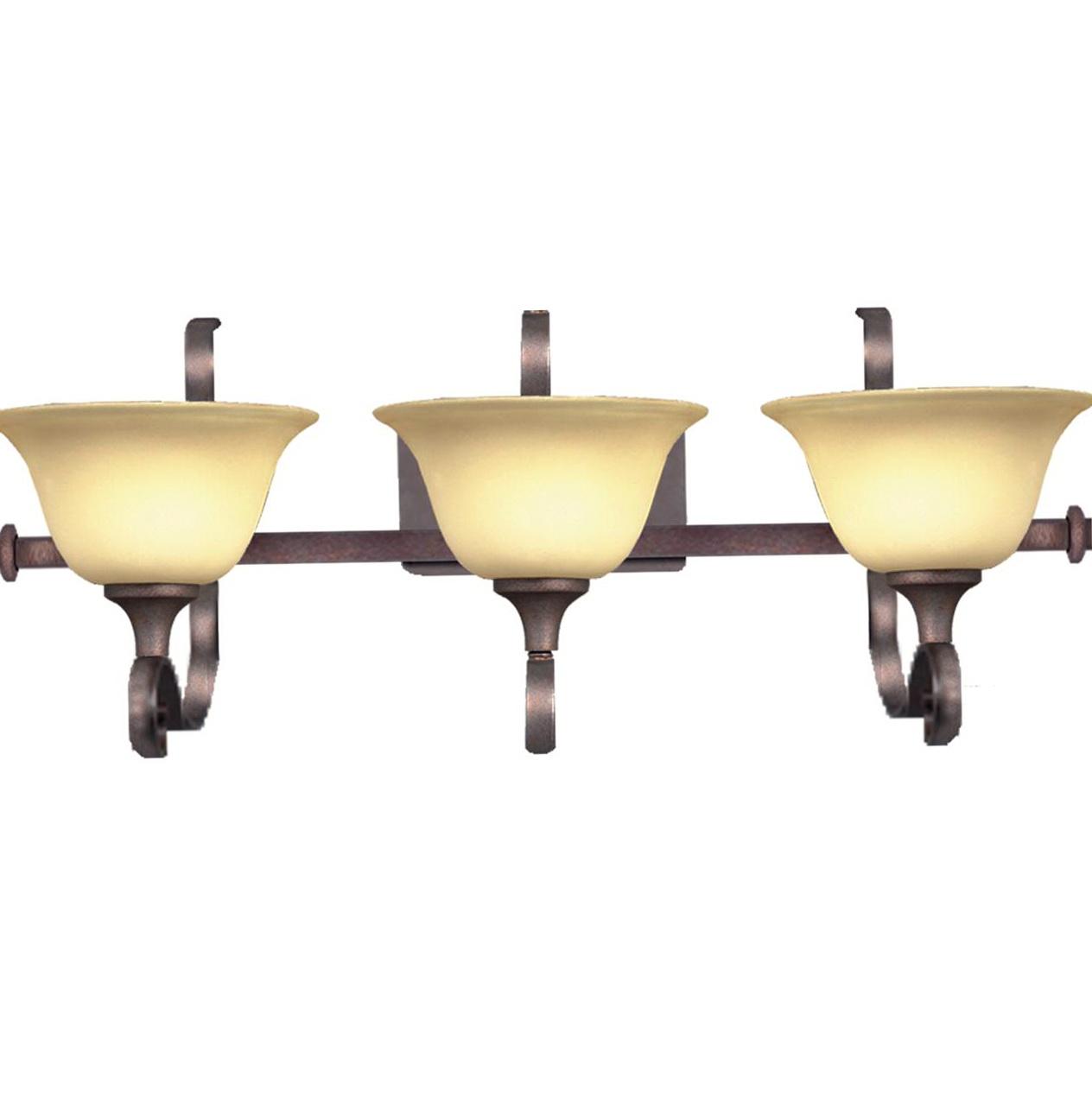 Bronze 3 Light Vanity Fixture Home Design Ideas