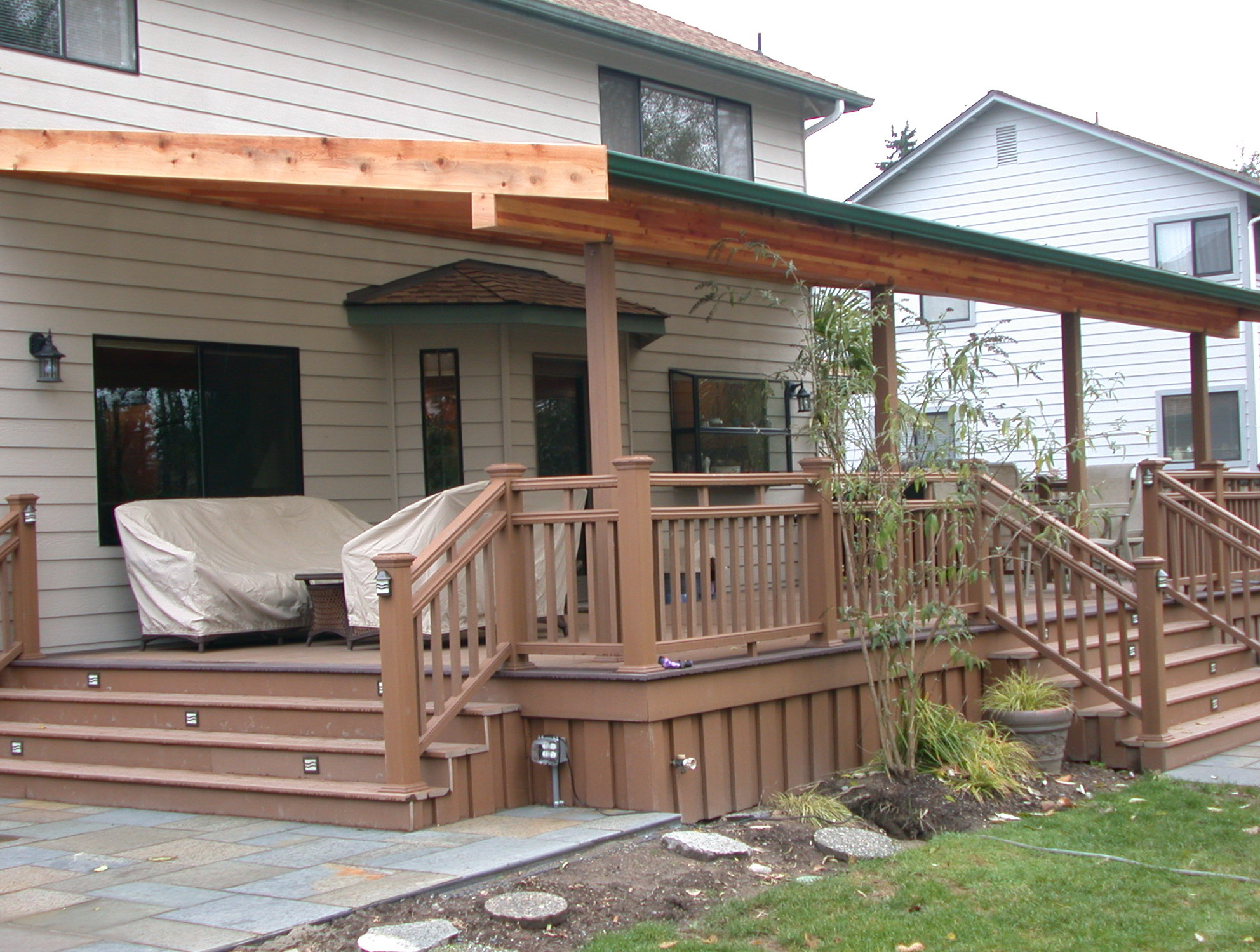 How to build a covered front porch cozy home design for How to build a back porch deck