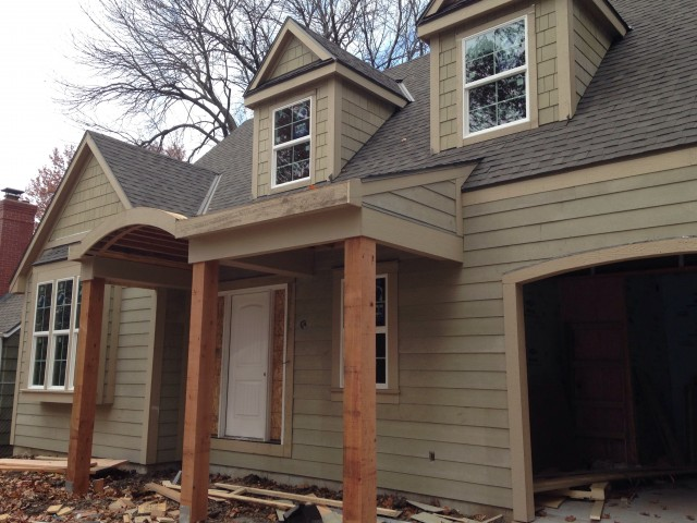 Cedar Beam Front Porch