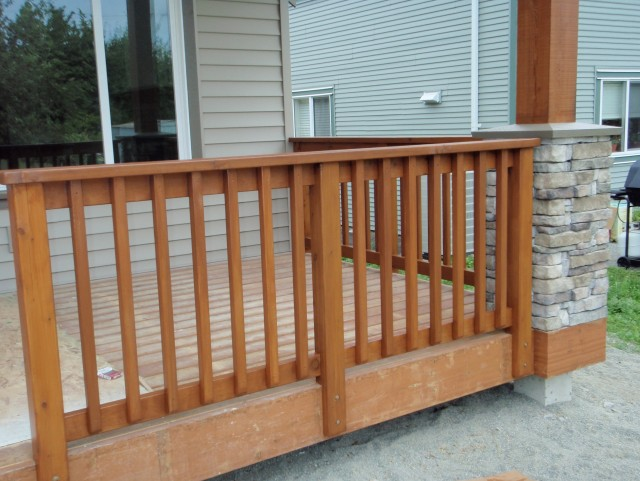 Cedar Porch Railing Systems
