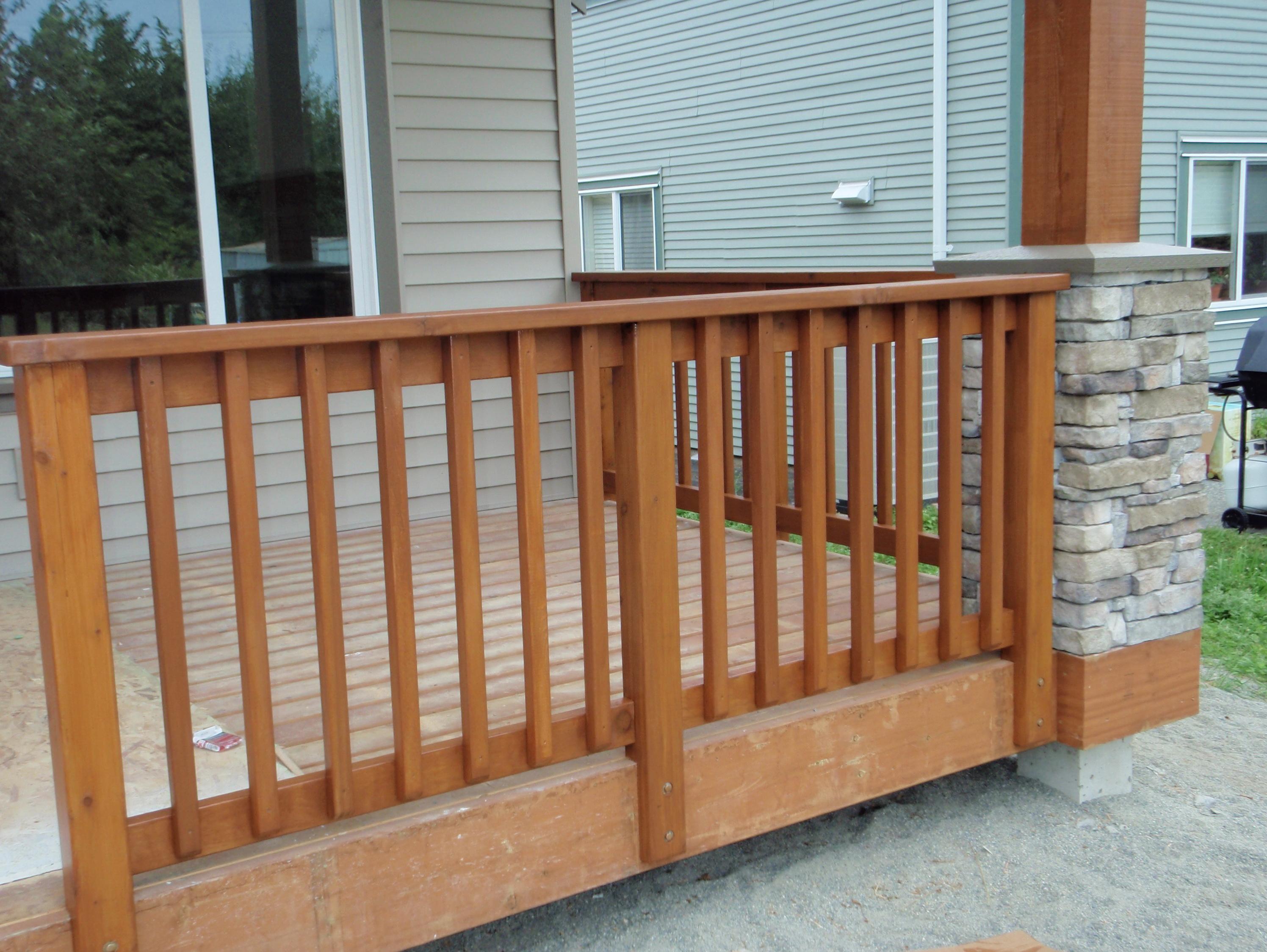 Cedar Porch Railing Systems