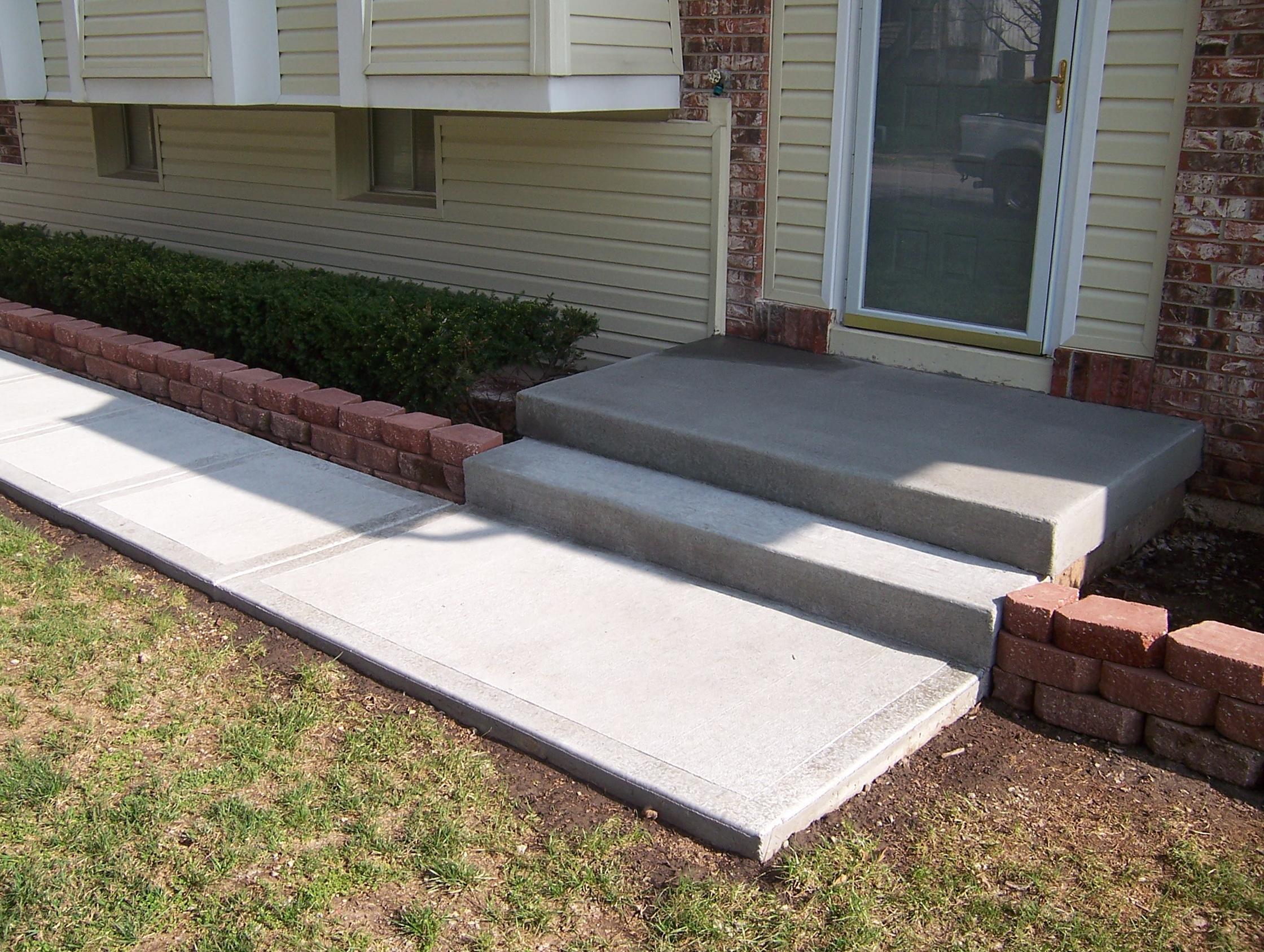 Cement front porch ideas home design ideas for Concrete front porch paint ideas