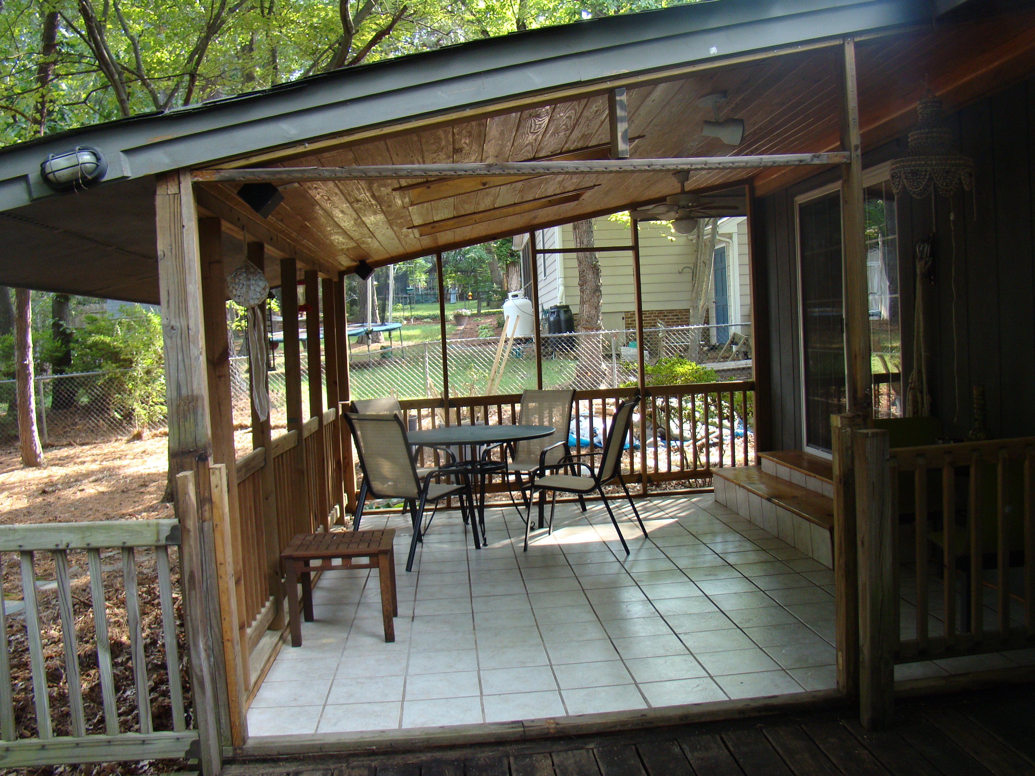 Closed In Back Porch Ideas | Home Design Ideas on Back Patio Porch Ideas id=87680