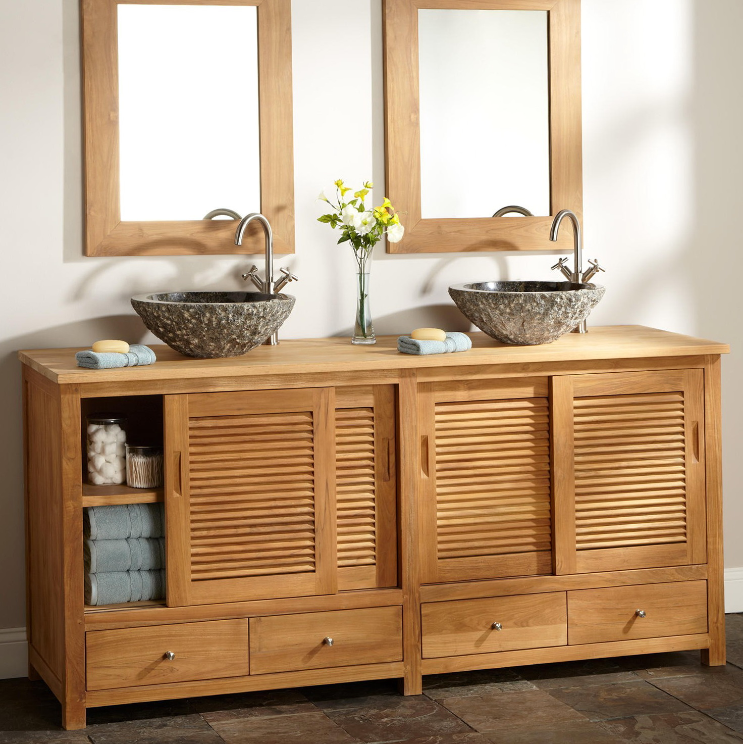 Double Vanity With Bowl Sinks