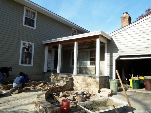 Flat Roof Front Porch Ideas
