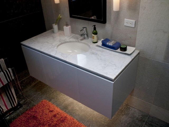 Floating Vanity Cabinet Construction