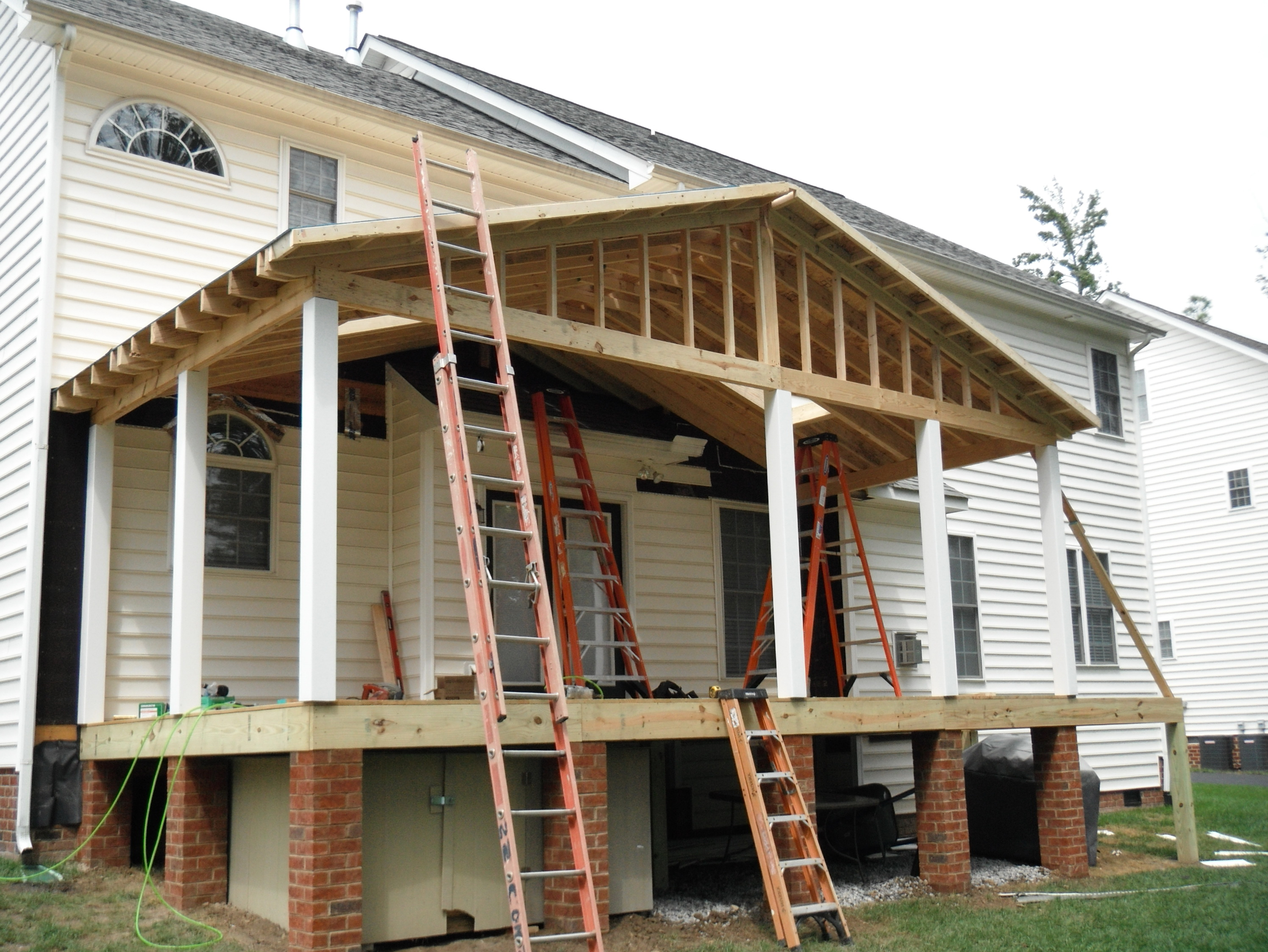Framing A Porch Roof Home Design Ideas