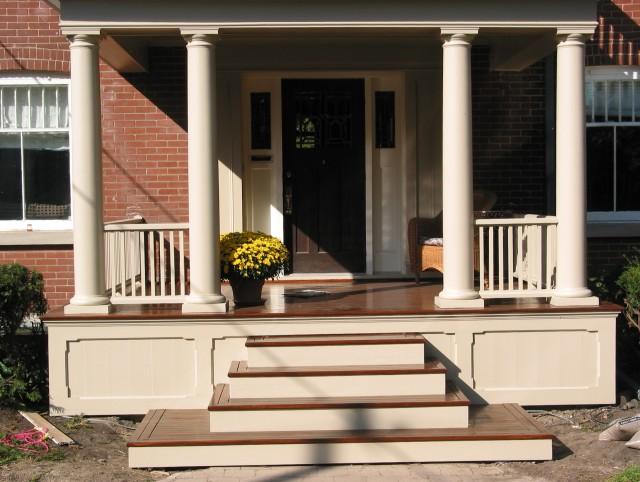 Front Porch Steps Design Ideas