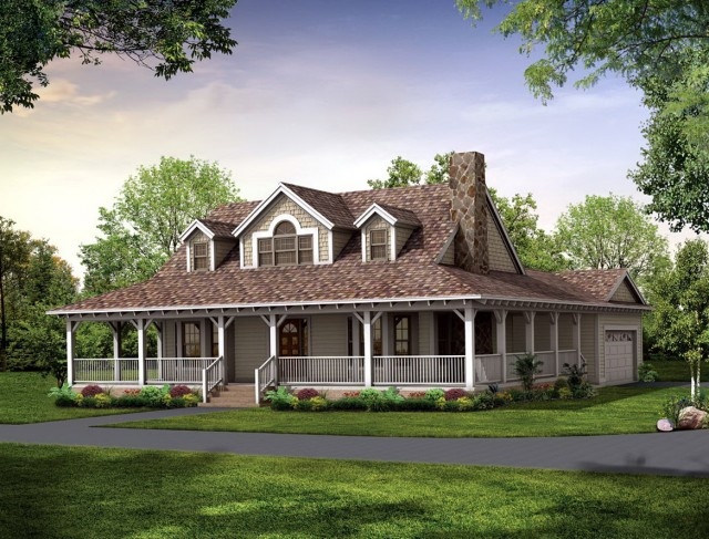 One story house plan with wrap around porch home design for One floor house plans with wrap around porch