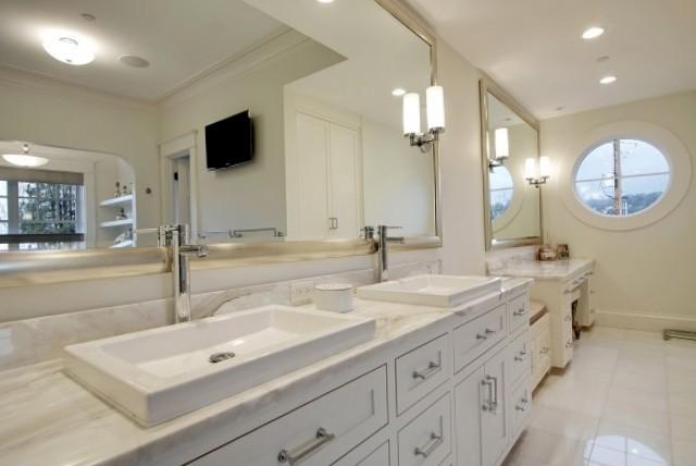 Large Framed Bathroom Vanity Mirrors