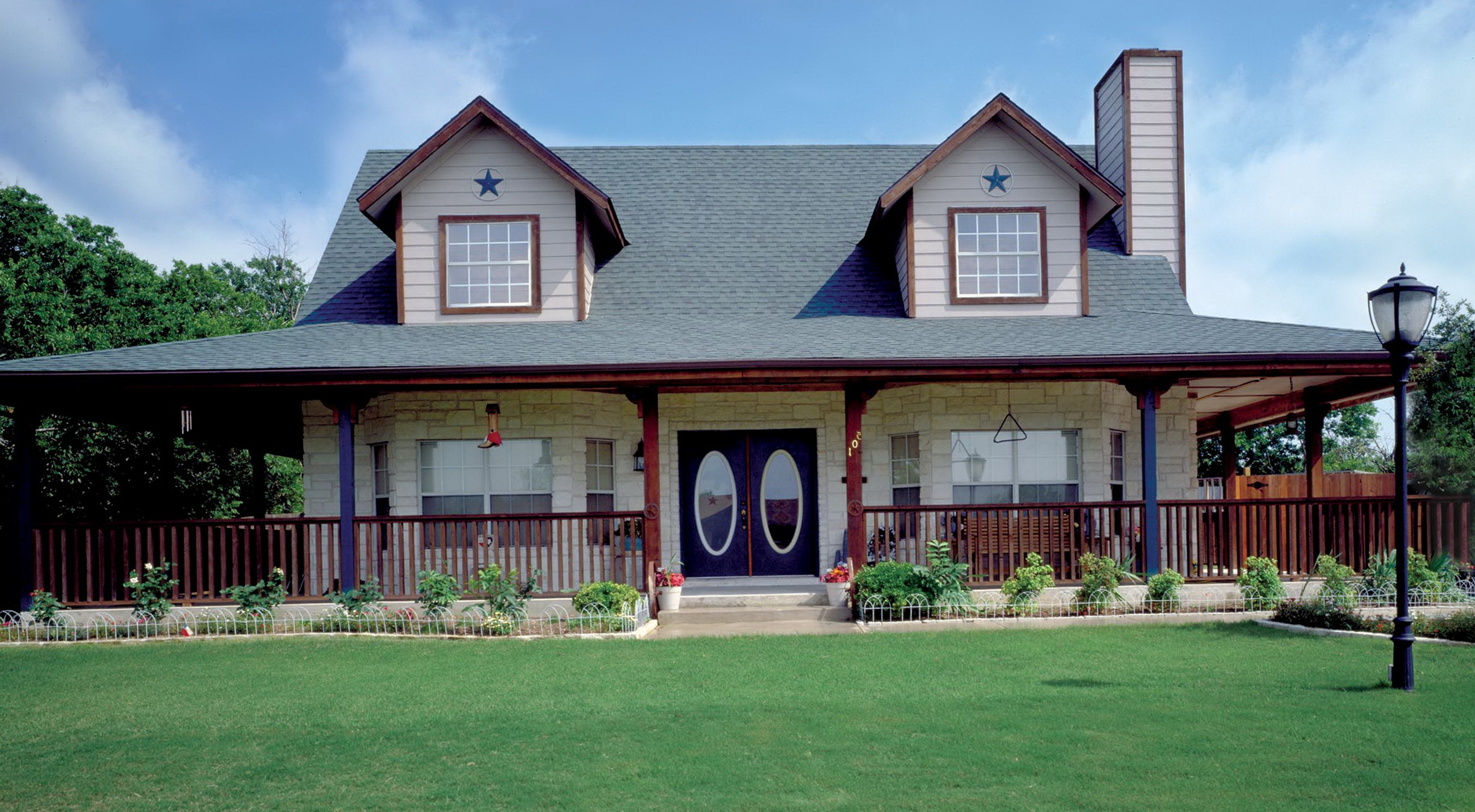 One Story House Plan With Wrap Around Porch Home Design