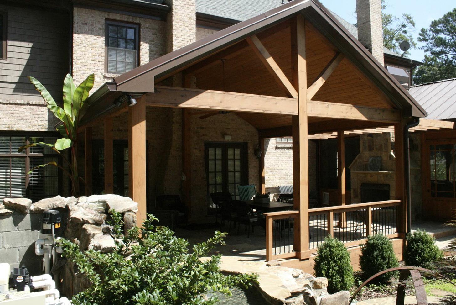 Open Gable Front Porch Home Design Ideas
