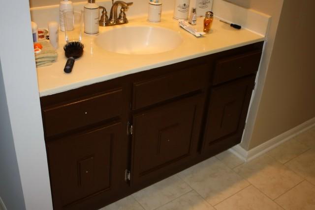 Painting A Bathroom Vanity Brown