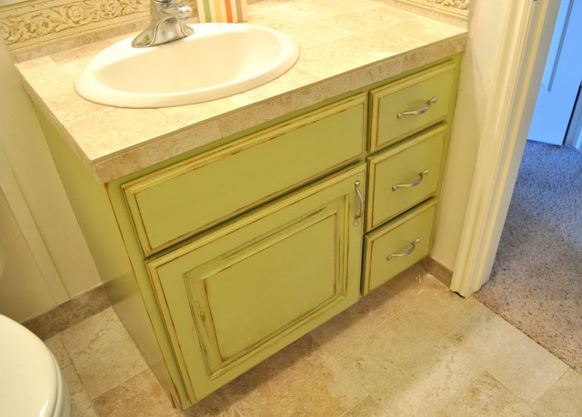 Painting Bathroom Vanity Before And After