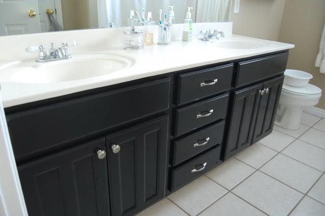 Painting Bathroom Vanity Black